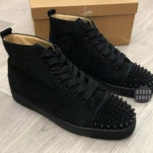 christian louboutin Hightops Cloth Half spikes